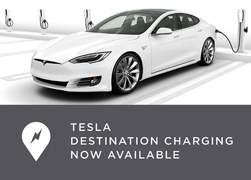 Tesla destination charging now available
