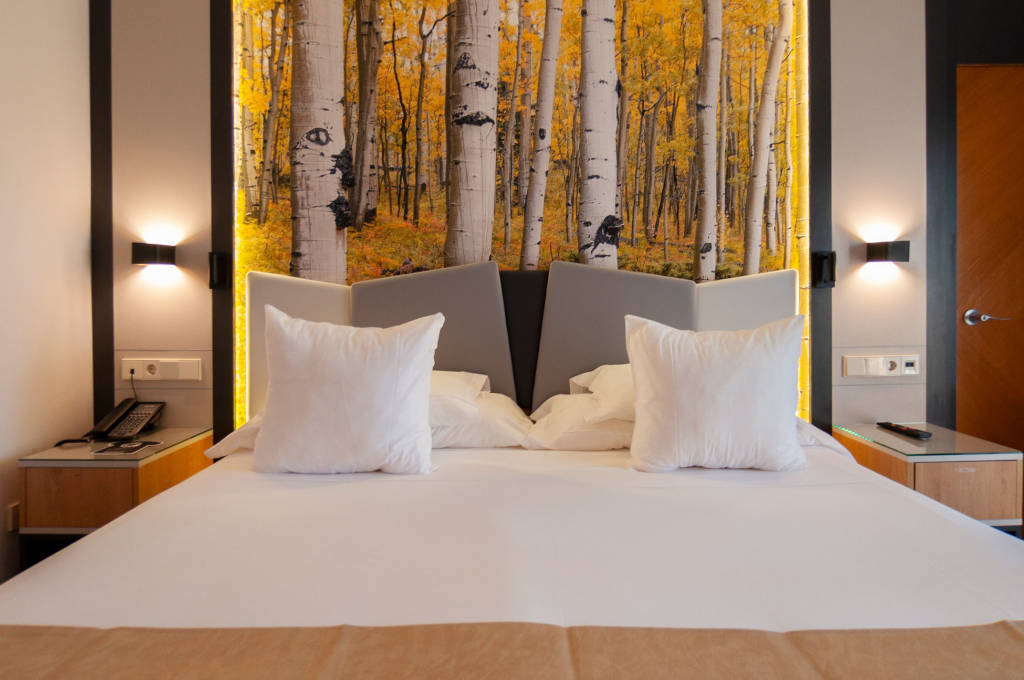 Detalle cama habitación doble superior